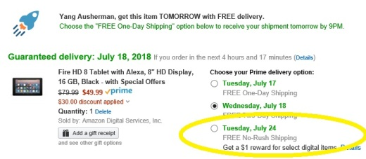 Amazon Prime Day $1